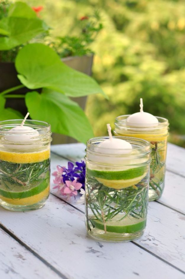 DIY Hacks for Summer - Natural Bug Repellent Luminaries - Easy Projects to Try This Summer To Get Organized, Spend Time Outdoors, Play With The Kids, Stay Cool In The Heat - Tips and Tricks to Make Summertime Awesome - Crafts and Home Decor by DIY JOY