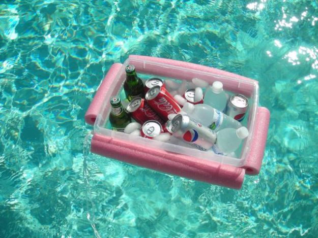 DIY Hacks for Summer - Noodley Beverage Boat - Easy Projects to Try This Summer To Get Organized, Spend Time Outdoors, Play With The Kids, Stay Cool In The Heat - Tips and Tricks to Make Summertime Awesome - Crafts and Home Decor by DIY JOY http://diyjoy.com/diy-hacks-summer