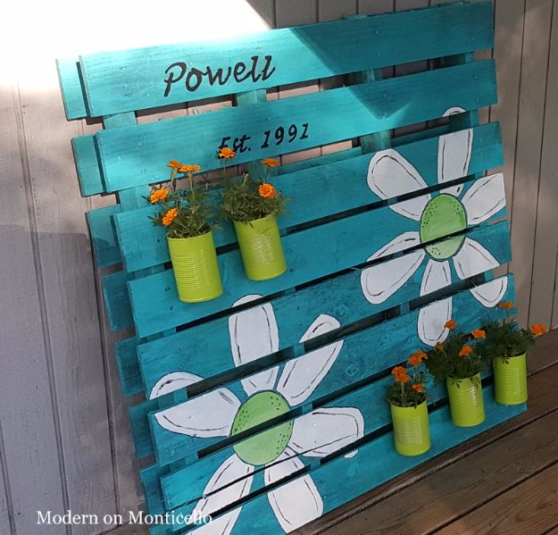 Best Country Crafts For The Home - Pallet Sign and Planter All In One - Cool and Easy DIY Craft Projects for Home Decor, Dollar Store Gifts, Furniture and Kitchen Accessories - Creative Wall Art Ideas, Rustic and Farmhouse Looks, Shabby Chic and Vintage Decor To Make and Sell http://diyjoy.com/country-crafts-for-the-home