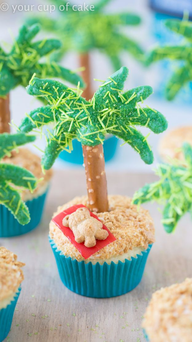 Best Recipe Ideas for Summer - Palm Tree Cupcakes - Cool Salads, Easy Side Dishes, Recipes for Summer Foods and Dinner to Beat the Heat - Light and Healthy Ideas for Hot Summer Nights, Pool Parties and Picnics http://diyjoy.com/best-recipes-summer