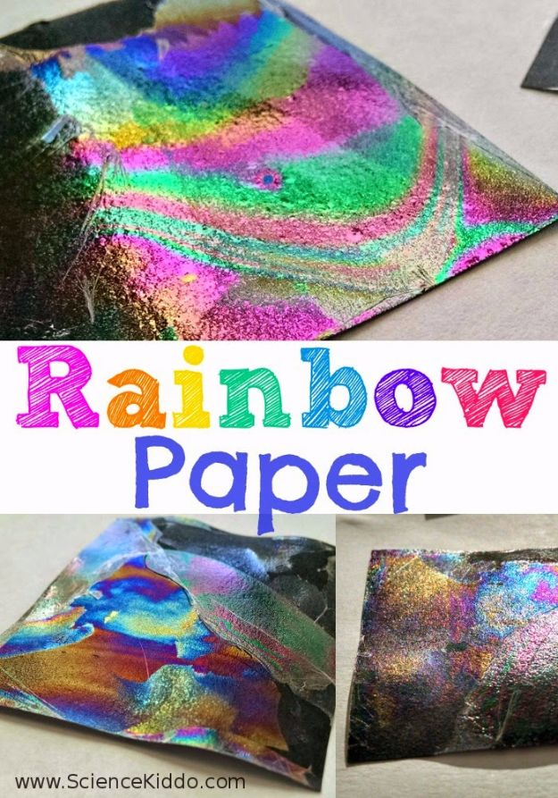 DIY Stem and Science Ideas for Kids and Teens - Rainbow Paper - Fun and Easy Do It Yourself Projects and Crafts Using Math, Electronics, Engineering Concepts and Basic Building Skills - Creatve and Cool Project Tutorials For Kids To Make At Home This Summer - Boys, Girls and Teenagers Have Fun Making Room Decor, Experiments and Playtime STEM Fun #stem #diyideas #stemideas #kidscrafts