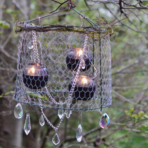 Rustic Outdoor Chandelier DIY
