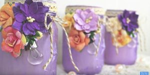 Don't You Love The Way She Adorns These Mason Jars? She Does Something Besides Adding Embellishments