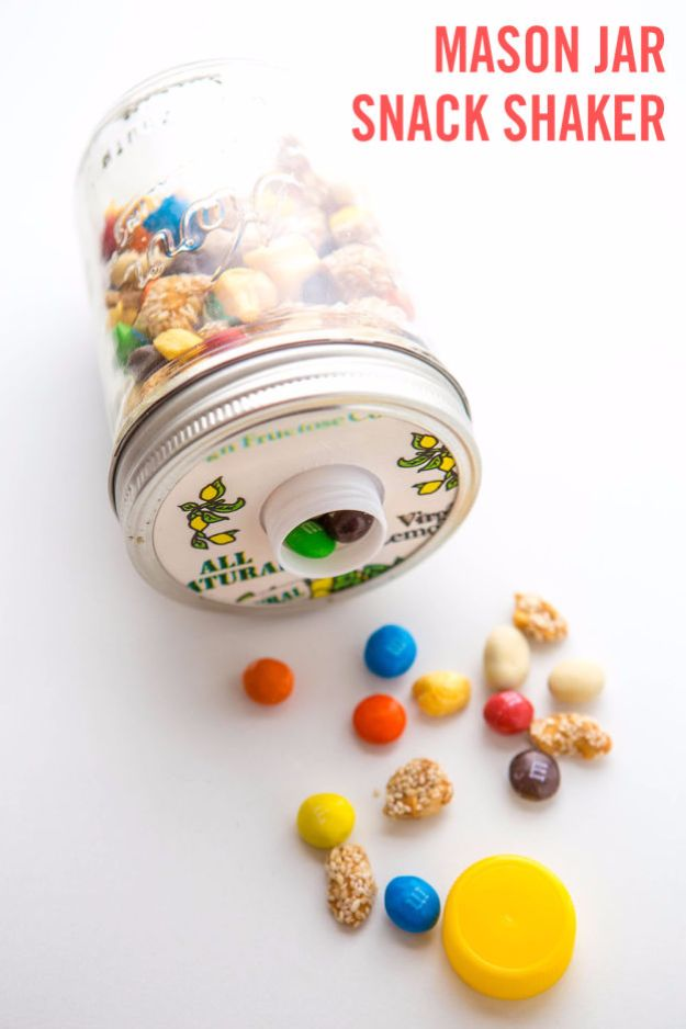 DIY Hacks for Summer - Spill Proof Snack Container - Easy Projects to Try This Summer To Get Organized, Spend Time Outdoors, Play With The Kids, Stay Cool In The Heat - Tips and Tricks to Make Summertime Awesome - Crafts and Home Decor by DIY JOY