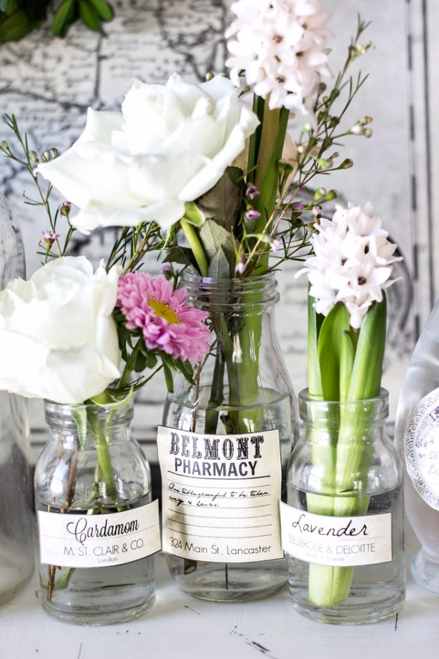 Free Printables for Mason Jars - Spring Apothecary Jar Labels Printable - Best Ideas for Tags and Printable Clip Art for Fun Mason Jar Gifts and Organization#masonjar #crafts #printables
