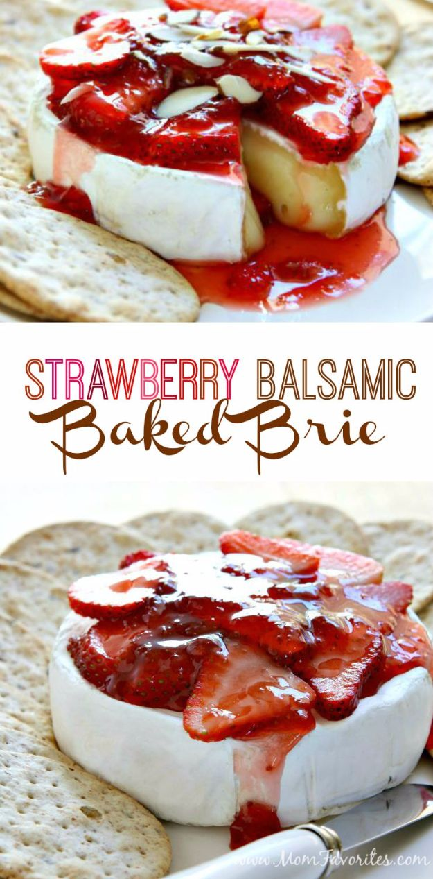 Best Recipe Ideas for Summer - Strawberry Balsamic Baked Brie - Cool Salads, Easy Side Dishes, Recipes for Summer Foods and Dinner to Beat the Heat - Light and Healthy Ideas for Hot Summer Nights, Pool Parties and Picnics http://diyjoy.com/best-recipes-summer