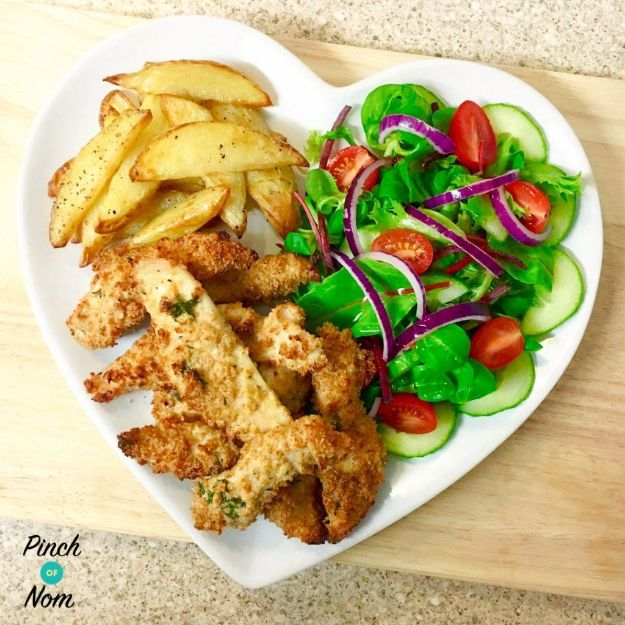 Best Recipe Ideas for Summer - Syn Free Garlic Lemon and Parsley Chicken Goujons - Cool Salads, Easy Side Dishes, Recipes for Summer Foods and Dinner to Beat the Heat - Light and Healthy Ideas for Hot Summer Nights, Pool Parties and Picnics http://diyjoy.com/best-recipes-summer