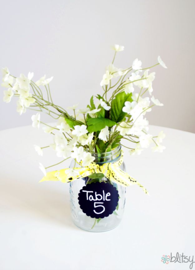 DIY Wedding Centerpieces - Table Number Centerpiece - Do It Yourself Ideas for Brides and Best Centerpiece Ideas for Weddings - Step by Step Tutorials for Making Mason Jars, Rustic Crafts, Flowers, Modern Decor, Vintage and Cheap Ideas for Couples on A Budget Outdoor and Indoor Weddings http://diyjoy.com/diy-wedding-centerpieces