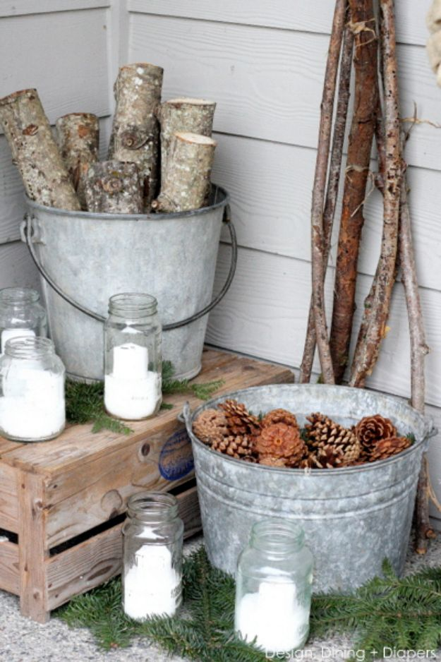 Best Country Decor Ideas for Your Porch - Winter White Porch - Rustic Farmhouse Decor Tutorials and Easy Vintage Shabby Chic Home Decor for Kitchen, Living Room and Bathroom - Creative Country Crafts, Furniture, Patio Decor and Rustic Wall Art and Accessories to Make and Sell http://diyjoy.com/country-decor-ideas-porchs