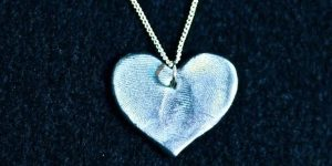 What Could Be A Better Gift For Mother's Day Than A Heart With Your Loved One's Fingerprints On It?