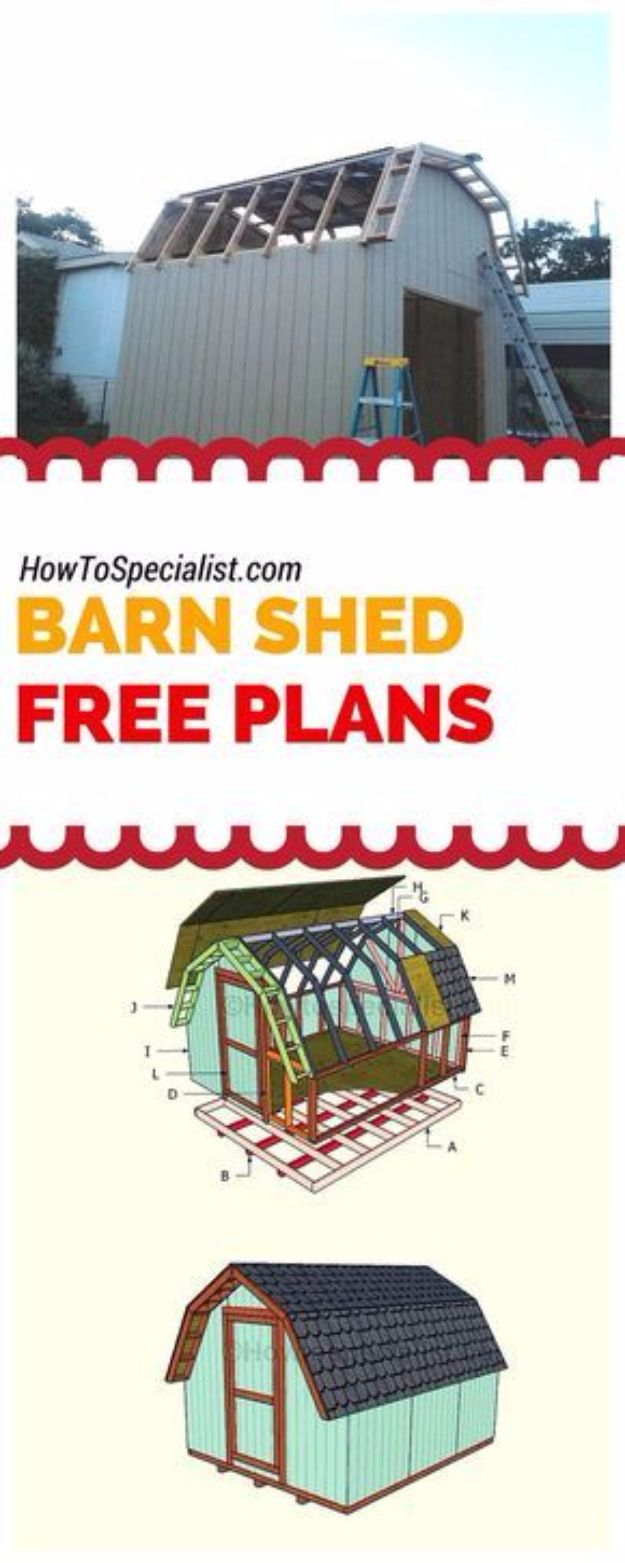 DIY Storage Sheds and Plans - 10x16 Barn Shed Plans - Cool and Easy Storage Shed Makeovers, Cheap Ideas to Build This Weekend, Basic Woodworking Projects to Add Extra Storage Space to Your Home or Small Backyard - How To Build A Shed With Pallets - Step by Step Tutorials and Instructions #storageideas #diyideas #diyhome