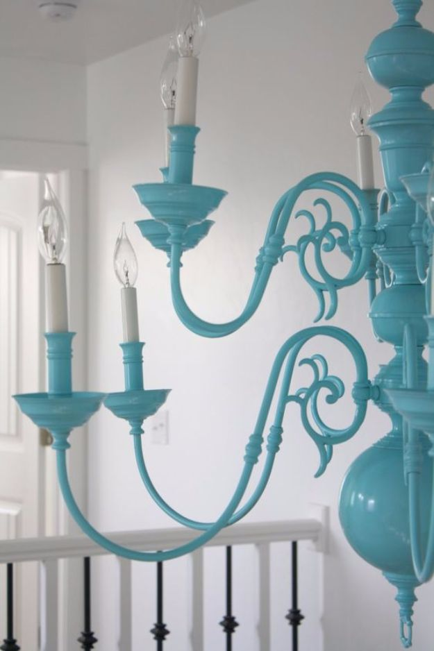 DIY Chandelier Makeovers - $30 Chandelier Refinish - Easy Ideas for Old Brass, Crystal and Ugly Gold Chandelier Makeover - Cool Before and After Projects for Chandeliers - Farmhouse, Shabby Chic and Vintage Home Decor on A Budget - Living Room, Bedroom and Dining Room Idea DIY Joy Projects and Crafts