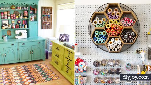 32 DIY Ideas To Make Your #CraftRoomGoals A Reality | DIY Joy Projects and Crafts Ideas