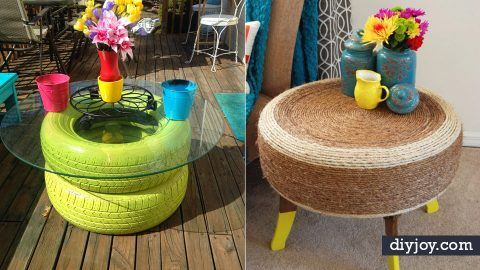 32 Awesomely Easy DIY Ideas Made With Old Tires | DIY Joy Projects and Crafts Ideas