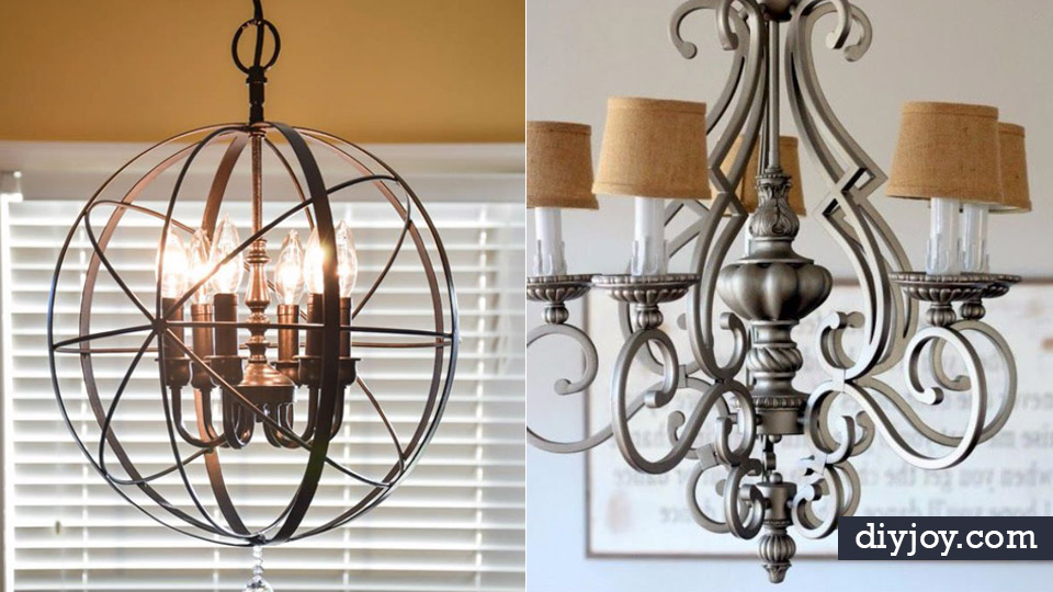 DIY Chandelier Makeovers   Easy Ideas For Old Brass, Crystal And Ugly Gold  Chandelier Makeover