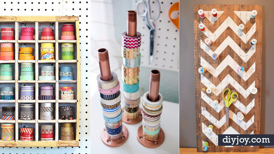 35 cool craft room storage ideas Homemade craft storage ideas