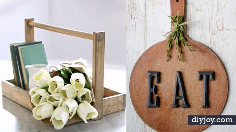 50 Rustic DIY Farmhouse Crafts to Make and Sell | DIY Joy Projects and Crafts Ideas