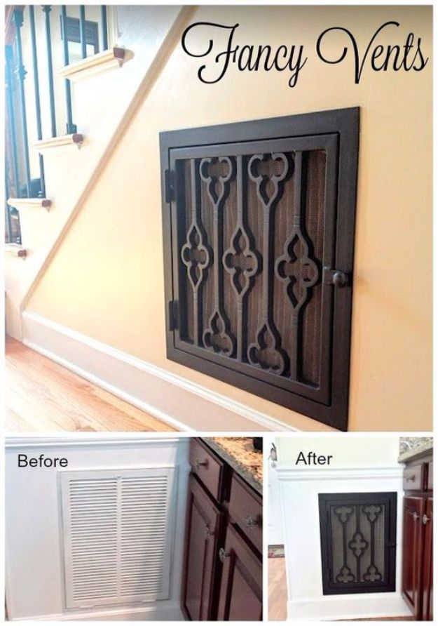 DIY Home Improvement Projects On A Budget - Add Decorative Vent Covers - Cool Home Improvement Hacks, Easy and Cheap Do It Yourself Tutorials for Updating and Renovating Your House - Home Decor Tips and Tricks, Remodeling and Decorating Hacks - DIY Projects