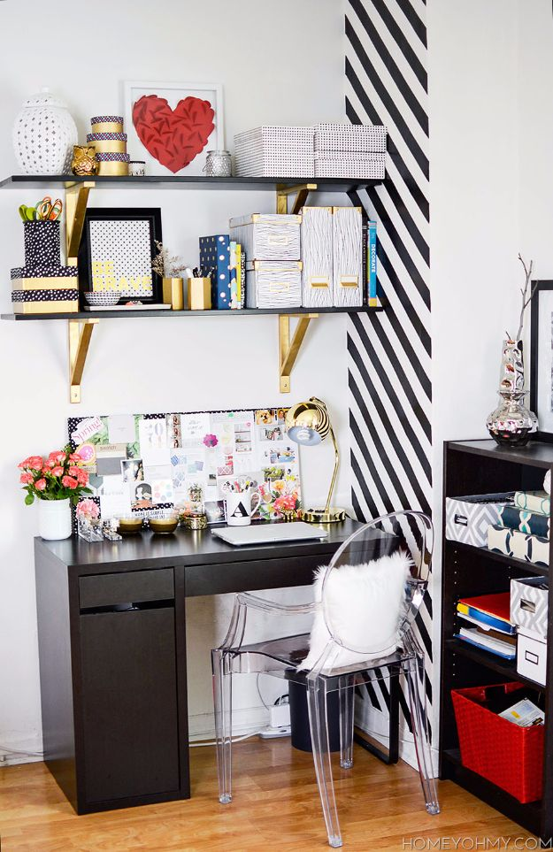 DIY Craft Room Ideas and Craft Room Organization Projects - Add Floating Shelves - Cool Ideas for Do It Yourself Craft Storage, Craft Room Decor and Organizing Project Ideas - fabric, paper, pens, creative tools, crafts supplies, shelves and sewing notions