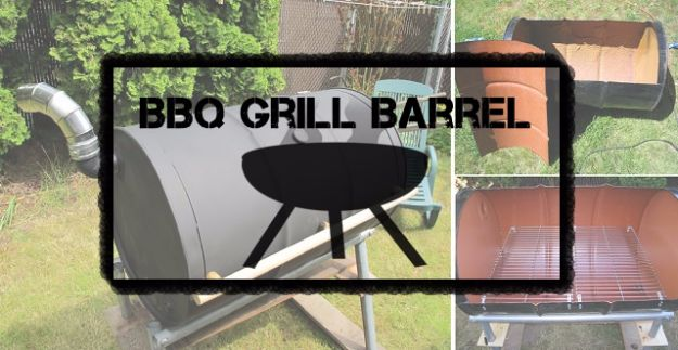 DIY Ideas With Old Barrels - BBQ Grill Barrel - Rustic Farmhouse Decor Tutorials and Projects Made With a Barrel - Easy Vintage Home Decor for Kitchen, Living Room and Bathroom - Creative Country Crafts, Dog Beds, Seating, Furniture, Patio Decor and Rustic Wall Art and Accessories to Make and Sell