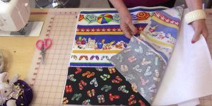 She Sews Coordinating Fabric Together For An Item That You Will Love Having…