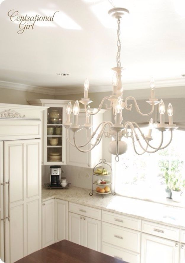 DIY Chandelier Makeovers - Brassy to Classy Chandelier - Easy Ideas for Old Brass, Crystal and Ugly Gold Chandelier Makeover - Cool Before and After Projects for Chandeliers - Farmhouse, Shabby Chic and Vintage Home Decor on A Budget - Living Room, Bedroom and Dining Room Idea DIY Joy Projects and Crafts