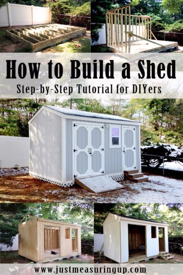 DIY Storage Sheds and Plans - Build A Storage Shed - Cool and Easy Storage Shed Makeovers, Cheap Ideas to Build This Weekend, Basic Woodworking Projects to Add Extra Storage Space to Your Home or Small Backyard - How To Build A Shed With Pallets - Step by Step Tutorials and Instructions #storageideas #diyideas #diyhome