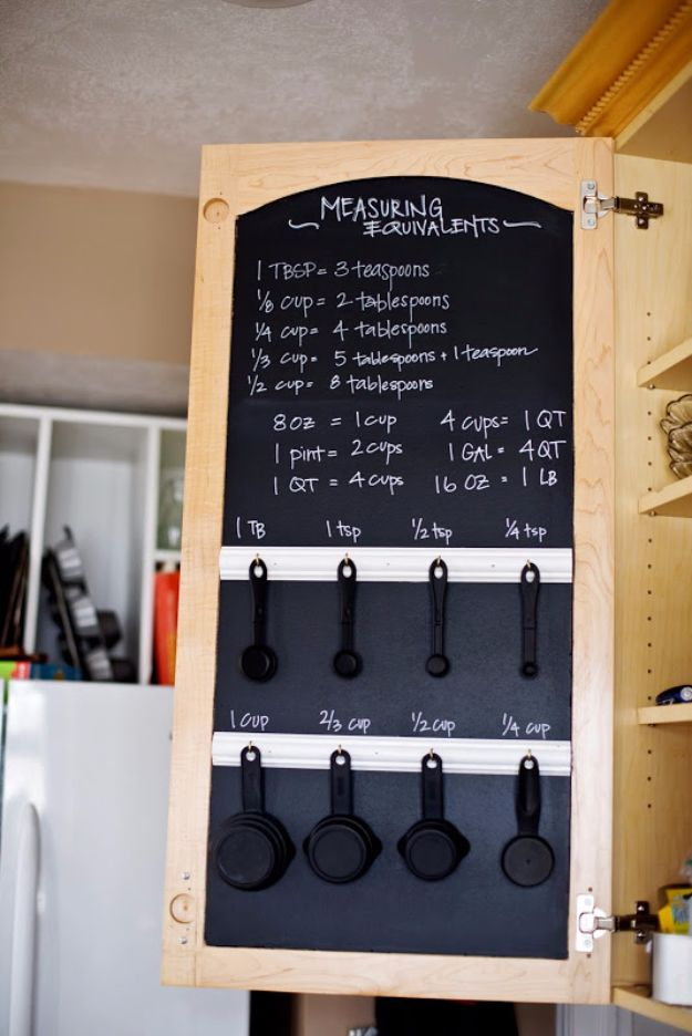 DIY Hacks for Renters - Chalkboard Measuring Equivalent - Easy Ways to Decorate and Fix Things on Rental Property - Decorate Walls, Cheap Ideas for Making an Apartment, Small Space or Tiny Closet Work For You - Quick Hacks and DIY Projects on A Budget - Step by Step Tutorials and Instructions for Simple Home Decor http://diyjoy.com/diy-hacks-renters