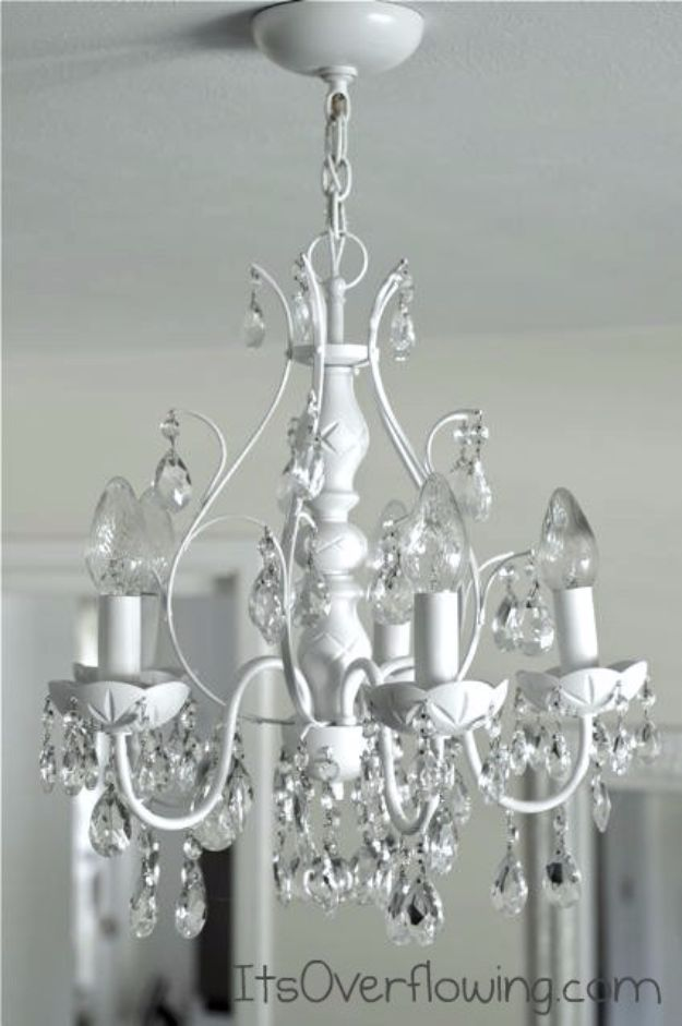 DIY Chandelier Makeovers - Chandelier Makeover With Spray Paint - Easy Ideas for Old Brass, Crystal and Ugly Gold Chandelier Makeover - Cool Before and After Projects for Chandeliers - Farmhouse, Shabby Chic and Vintage Home Decor on A Budget - Living Room, Bedroom and Dining Room Idea DIY Joy Projects and Crafts