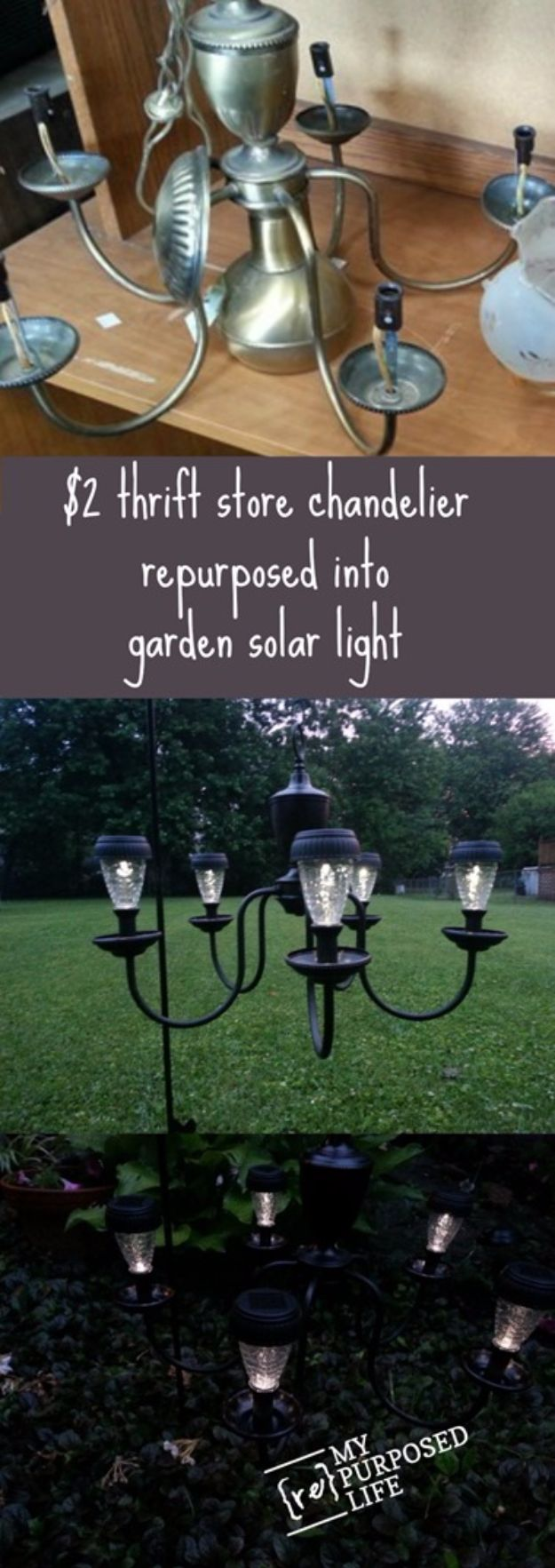 DIY Outdoor Lighting Ideas - Chandelier Solar Lights - Do It Yourself Lighting Ideas for the Backyard, Patio, Porch and Pool - Lights, Chandeliers, Lamps and String Lights for Your Outdoors - Dining Table and Chair Lighting, Overhead, Sconces and Weatherproof Projects #diy #lighting