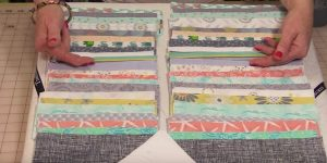 Cutting 7″ to 9″ Strips, She Sews Them Together. The Next Thing She Does Is Brilliant