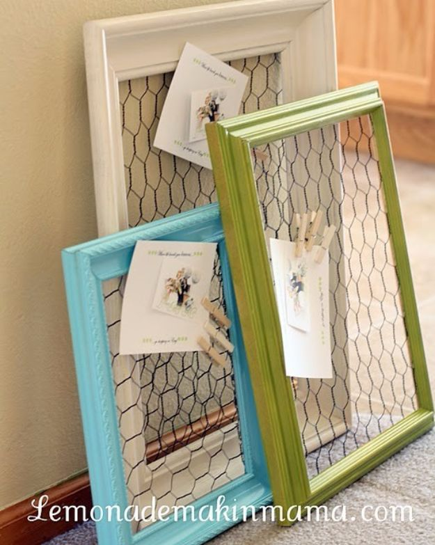 Country Crafts to Make And Sell - Chicken Wire Frame - Easy DIY Home Decor and Rustic Craft Ideas - Step by Step Farmhouse Decor To Make and Sell on Etsy and at Craft Fairs - Tutorials and Instructions for Creative Ways to Make Money - Best Vintage Farmhouse DIY For Living Room, Bedroom, Walls and Gifts #craftstosell #countrycrafts #etsyideas