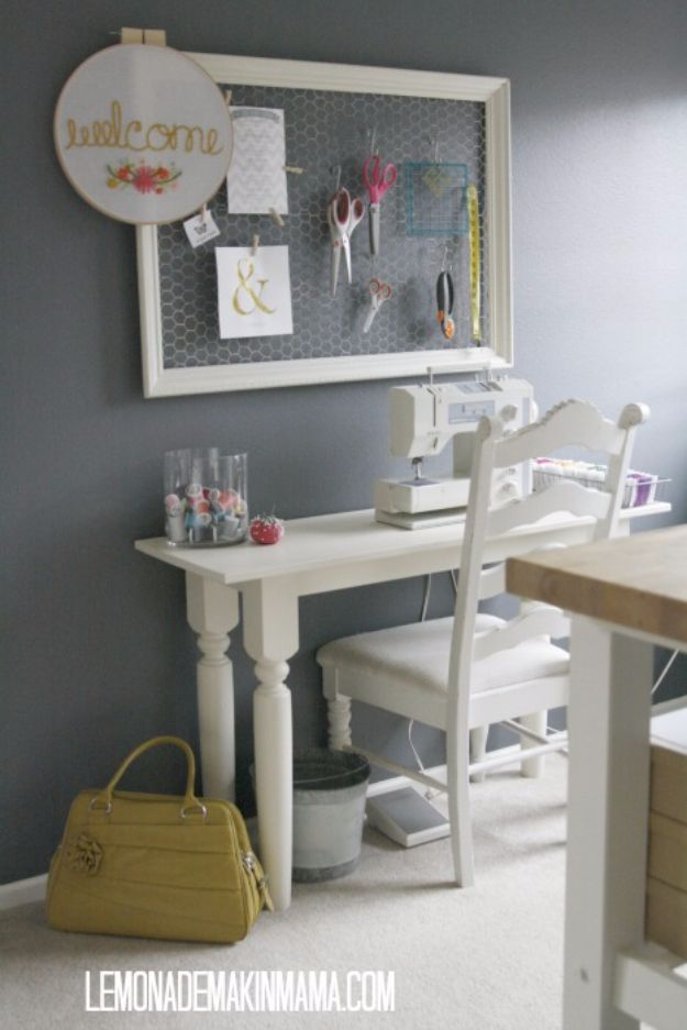 DIY Craft Room Ideas and Craft Room Organization Projects - Chicken Wire Wall Frame - Cool Ideas for Do It Yourself Craft Storage, Craft Room Decor and Organizing Project Ideas - fabric, paper, pens, creative tools, crafts supplies, shelves and sewing notions