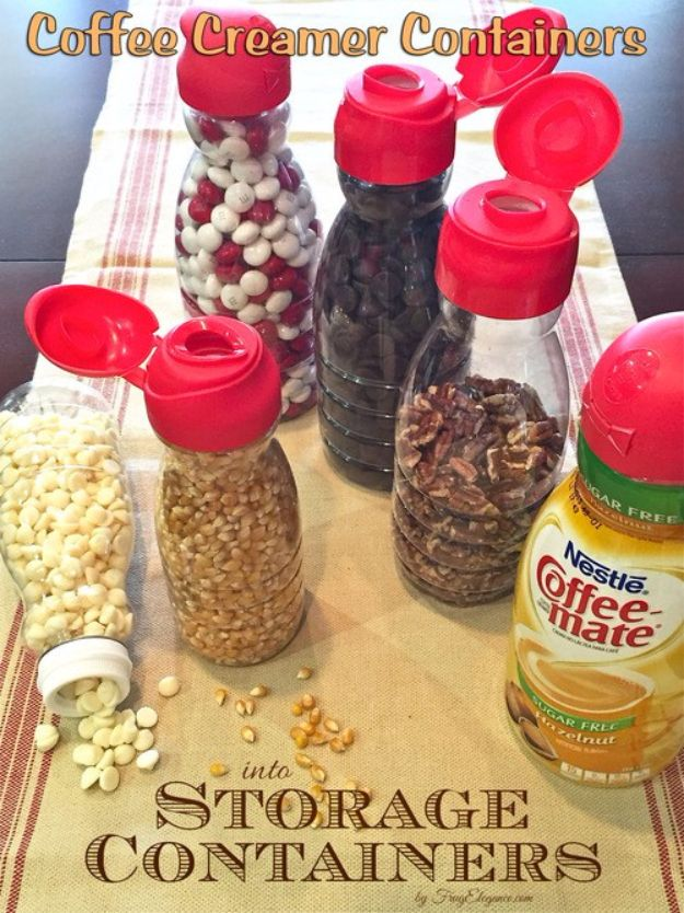 DIY Camping Hacks - Coffee Creamer Containers - Easy Tips and Tricks, Recipes for Camping - Gear Ideas, Cheap Camping Supplies, Tutorials for Making Quick Camping Food, Fire Starters, Gear Holders and More