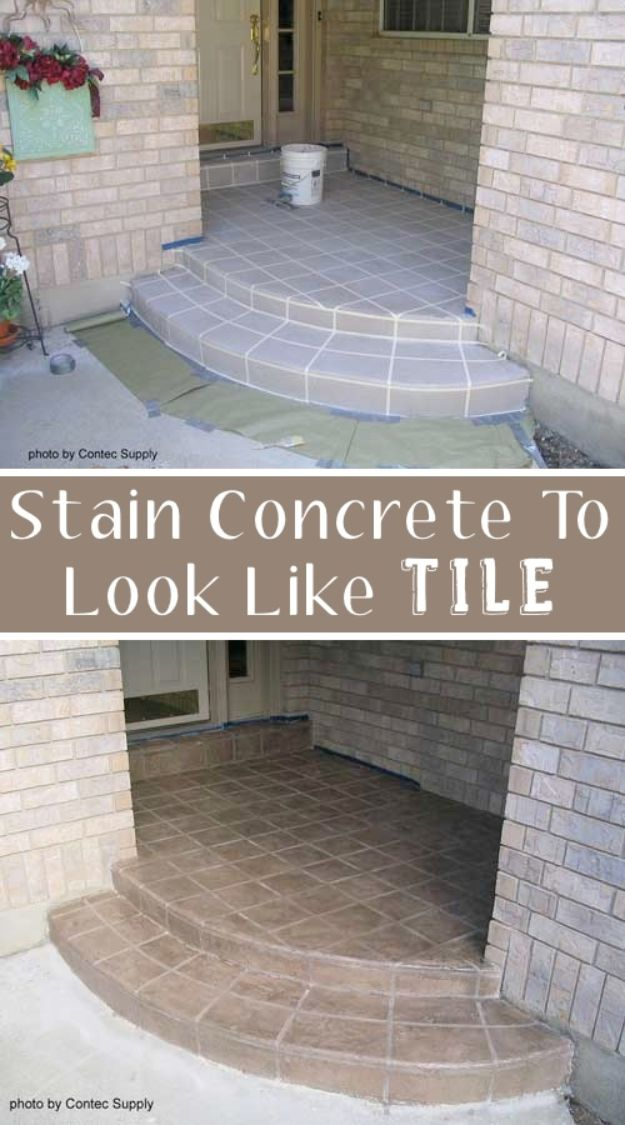 DIY Home Improvement Projects On A Budget - Concrete Floor Stain - Cool Home Improvement Hacks, Easy and Cheap Do It Yourself Tutorials for Updating and Renovating Your House - Home Decor Tips and Tricks, Remodeling and Decorating Hacks - DIY Projects and Crafts by DIY JOY http://diyjoy.com/diy-home-improvement-ideas-budget