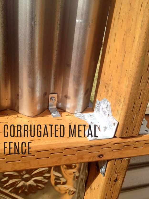 DIY Ideas With Old Fence Posts - Corrugated Metal Fence - Rustic Farmhouse Decor Tutorials and Projects Made With An Old Fence Post - Easy Vintage Shelving, Wall Art, Picture Frames and Home Decor for Kitchen, Living Room and Bathroom - Creative Country Crafts, Seating, Furniture, Patio Decor and Rustic Wall Art and Accessories to Make and Sell http://diyjoy.com/diy-projects-old-windows