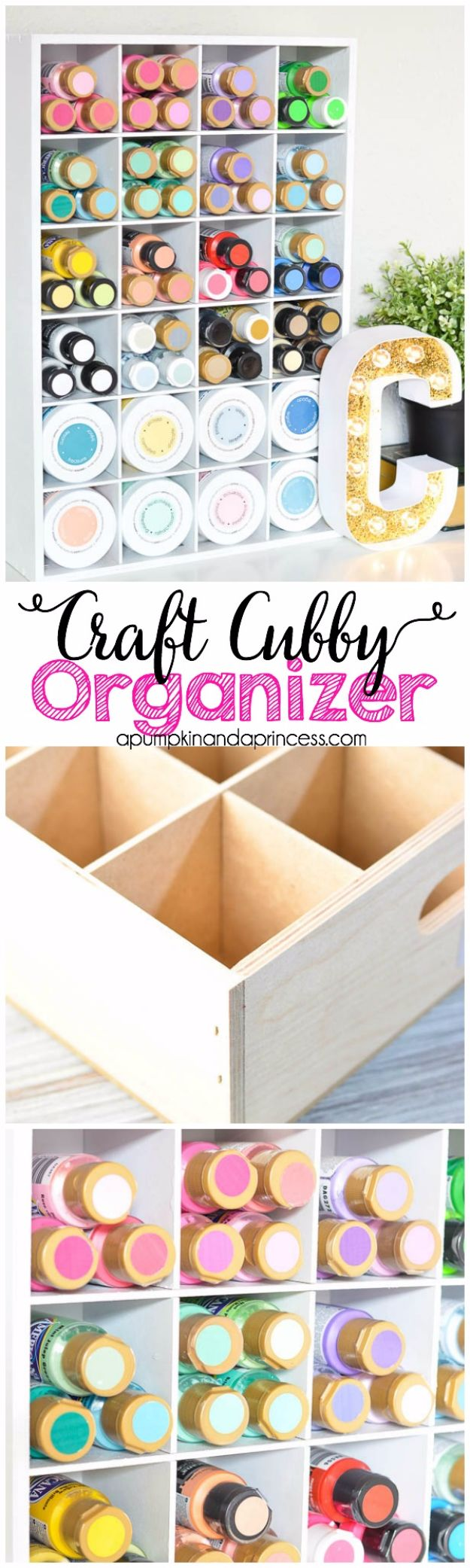 DIY Craft Room Storage Ideas and Craft Room Organization Projects - Craft Cubby Organizer - Cool Ideas for Do It Yourself Craft Storage, Craft Room Decor and Organizing Project Ideas - fabric, paper, pens, creative tools, crafts supplies, shelves and sewing notions #diyideas #craftroom