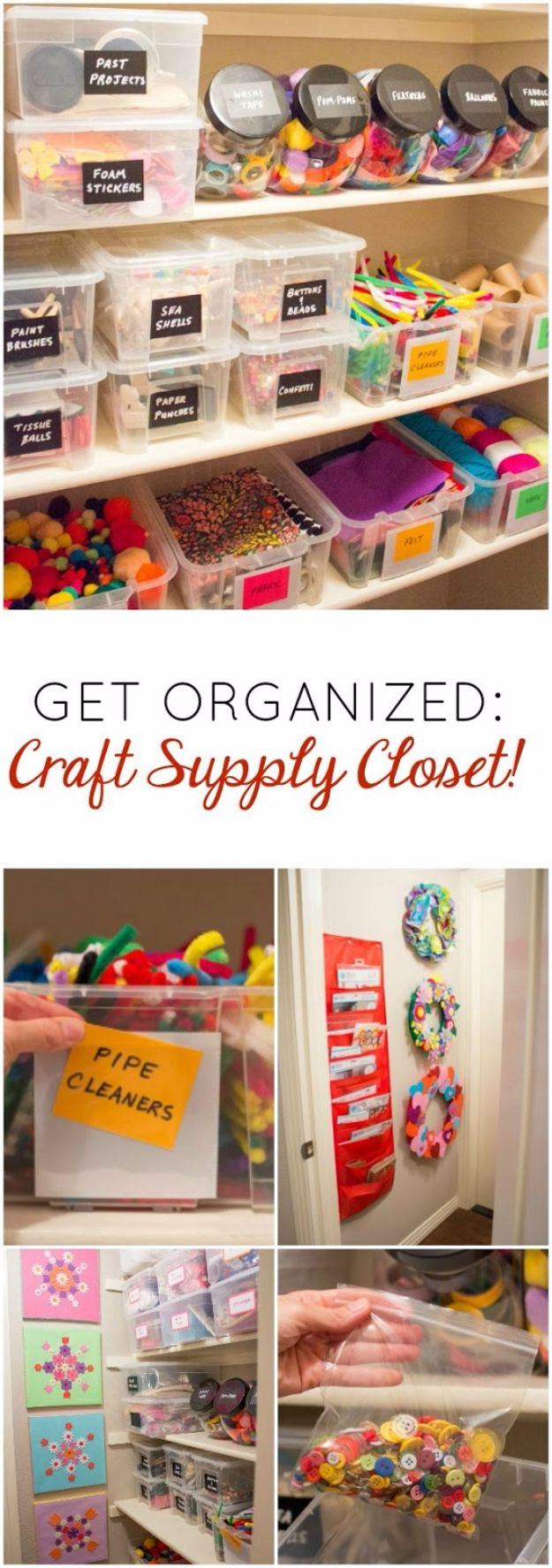 DIY Craft Room Ideas and Craft Room Organization Projects - Craft Supply Closet - Cool Ideas for Do It Yourself Craft Storage, Craft Room Decor and Organizing Project Ideas - fabric, paper, pens, creative tools, crafts supplies, shelves and sewing notions