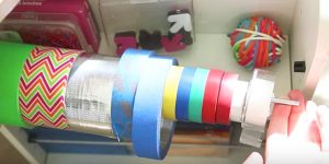 Her Craft Room Was A Mess. She Started By Putting Ribbons And Tape On A Dowel But What She Did Next Is Genius!