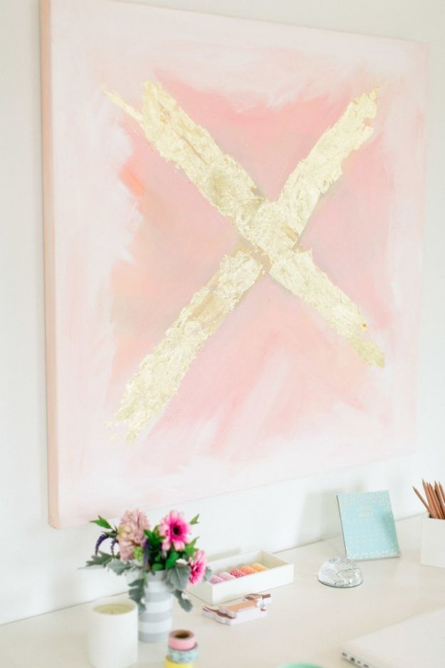 DIY Hacks for Renters - DIY Abstract X Painting - Easy Ways to Decorate and Fix Things on Rental Property - Decorate Walls, Cheap Ideas for Making an Apartment, Small Space or Tiny Closet Work For You - Quick Hacks and DIY Projects on A Budget - Step by Step Tutorials and Instructions for Simple Home Decor http://diyjoy.com/diy-hacks-renters
