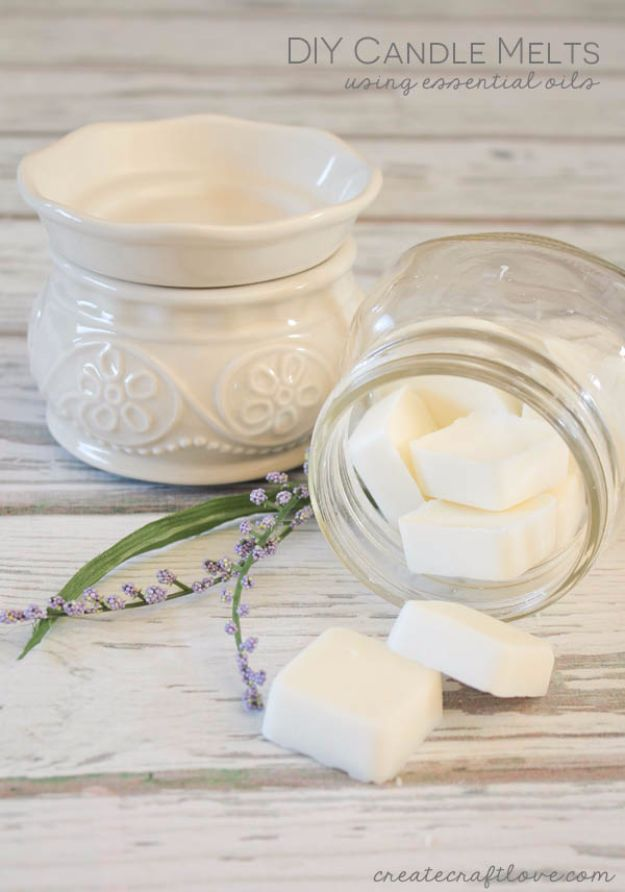 DIY Spa Day Ideas - DIY Candle Melts - Easy Sugar Scrubs, Lotions and Bath Ideas for The Best Pampering You Can Do At Home - Lavender Projects, Relaxing Baths and Bath Bombs, Tub Soaks and Facials - Step by Step Tutorials for Luxury Bath Products http://diyjoy.com/diy-spa-day-ideas