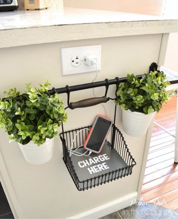DIY Remodeling Hacks - DIY Charging Station - Quick and Easy Home Repair Tips and Tricks - Cool Hacks for DIY Home Improvement Ideas - Cheap Ways To Fix Bathroom, Bedroom, Kitchen, Outdoor, Living Room and Lighting - Creative Renovation on A Budget - DIY Projects and Crafts by DIY JOY #remodeling #homeimprovement #diy #hacks