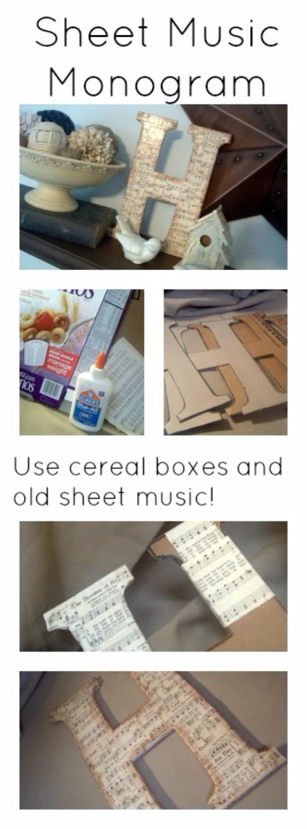 DIY Media Room Ideas - DIY Chipboard Monogram - Do It Yourslef TV Consoles, Wall Art, Sofas and Seating, Chairs, TV Stands, Remote Holders and Shelving Tutorials - Creative Furniture for Movie Rooms and Video Game Stations #mediaroom #diydecor
