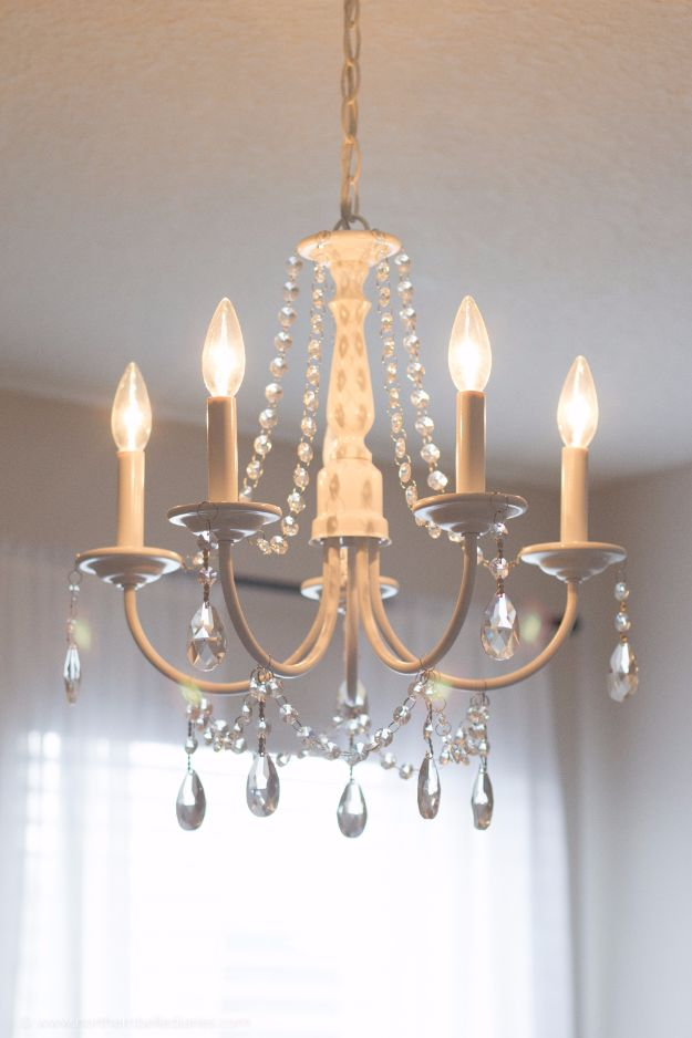 DIY Chandelier Makeovers - DIY Crystal Chandelier - Easy Ideas for Old Brass, Crystal and Ugly Gold Chandelier Makeover - Cool Before and After Projects for Chandeliers - Farmhouse, Shabby Chic and Vintage Home Decor on A Budget - Living Room, Bedroom and Dining Room Idea DIY Joy Projects and Crafts