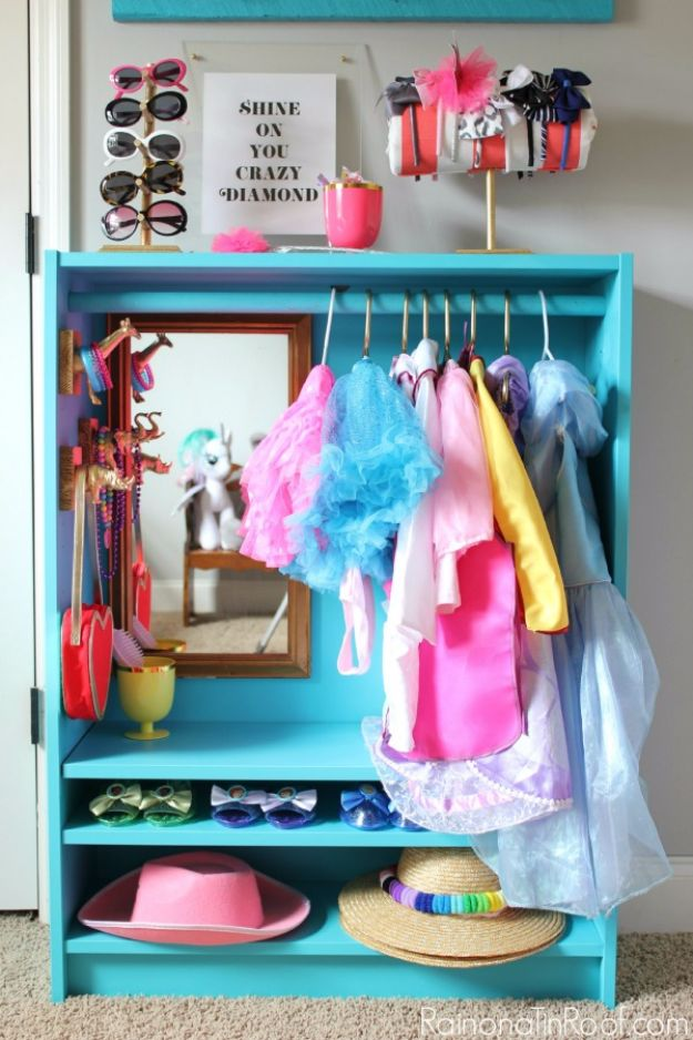 DIY Playroom Ideas and Furniture - DIY Dress Up Closet - Easy Play Room Storage, Furniture Ideas for Kids, Playtime Rugs and Activity Mats, Shelving, Toy Boxes and Wall Art - Cute DIY Room Decor for Boys and Girls - Fun Crafts with Step by Step Tutorials and Instructions http://diyjoy.com/diy-playroom-ideas