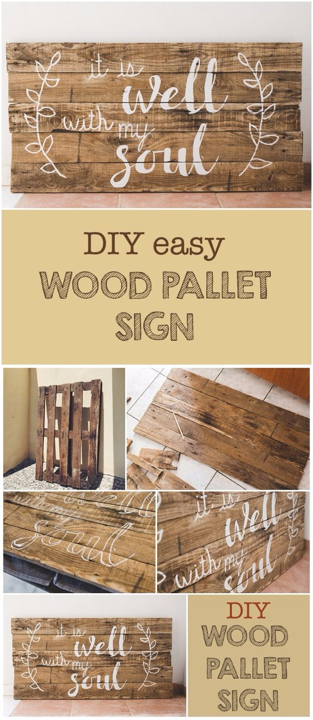 Country Crafts to Make And Sell - DIY Easy Wood Pallet Sign - Easy DIY Home Decor and Rustic Craft Ideas - Step by Step Farmhouse Decor To Make and Sell on Etsy and at Craft Fairs - Tutorials and Instructions for Creative Ways to Make Money - Best Vintage Farmhouse DIY For Living Room, Bedroom, Walls and Gifts #craftstosell #countrycrafts #etsyideas