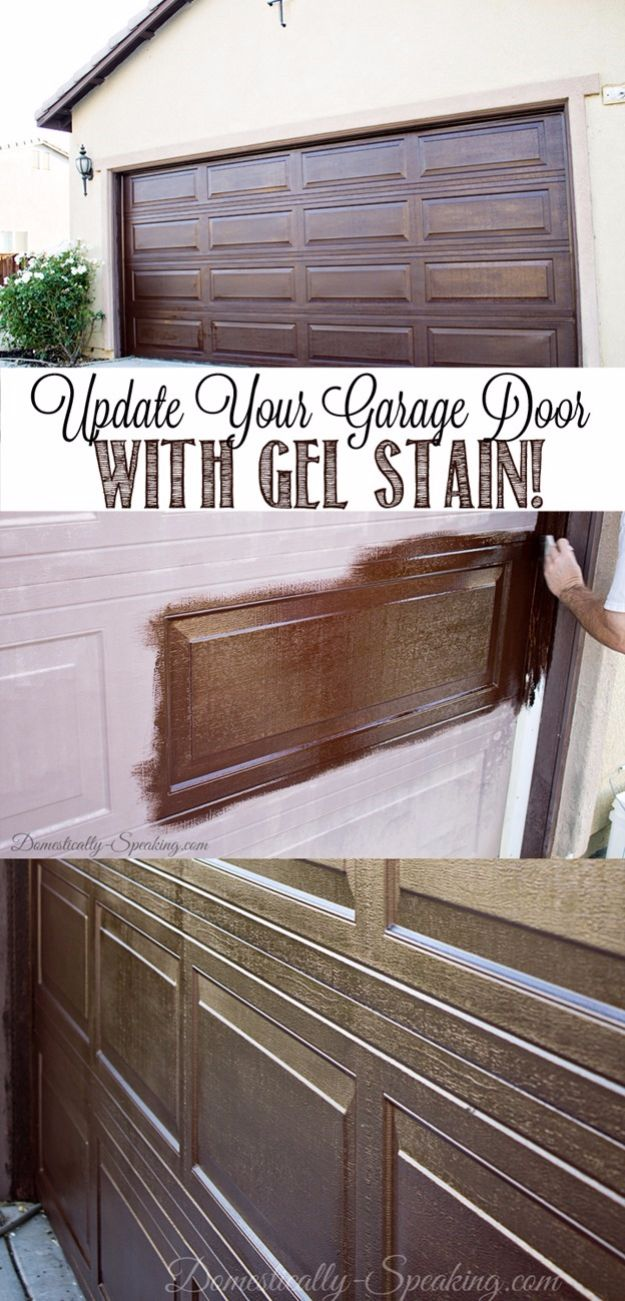 DIY Projects Your Garage Needs - DIY Garage Door Makeover - Do It Yourself Garage Makeover Ideas Include Storage, Mudroom, Organization, Shelves, and Project Plans for Cool New Garage Decor - Easy Home Decor on A Budget http://diyjoy.com/diy-garage-ideas