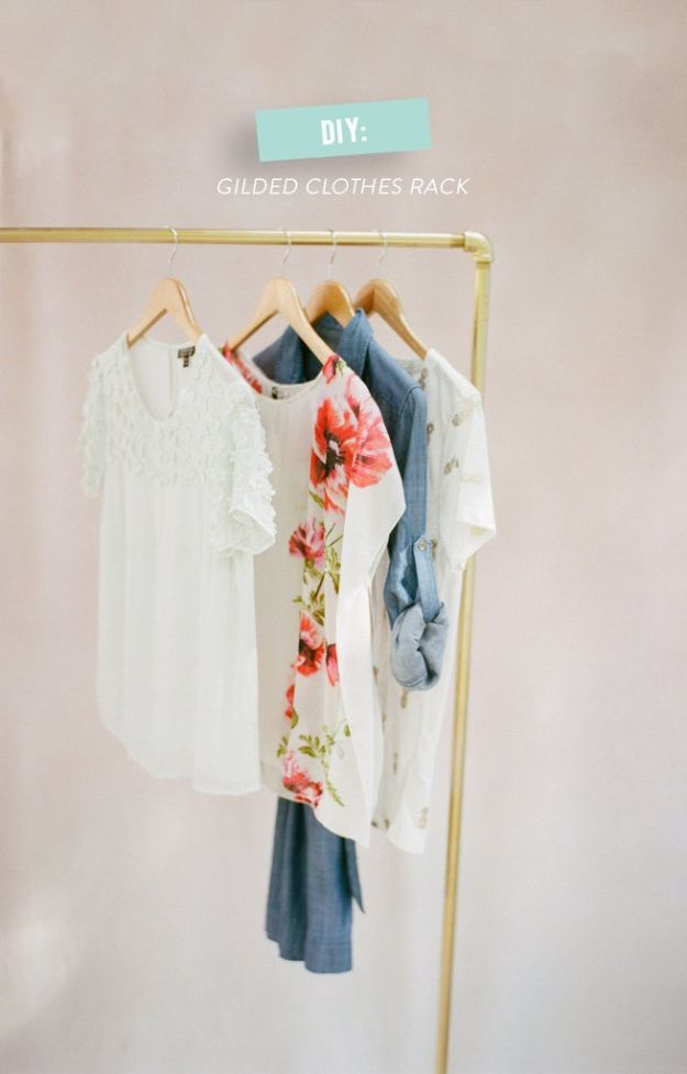 DIY Hacks for Renters - DIY Glided Clothes Rack - Easy Ways to Decorate and Fix Things on Rental Property - Decorate Walls, Cheap Ideas for Making an Apartment, Small Space or Tiny Closet Work For You - Quick Hacks and DIY Projects on A Budget - Step by Step Tutorials and Instructions for Simple Home Decor http://diyjoy.com/diy-hacks-renters