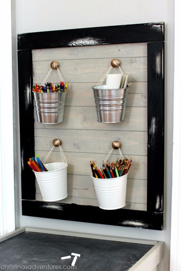 DIY Playroom Ideas and Furniture - DIY Kid's Art Center - Easy Play Room Storage, Furniture Ideas for Kids, Playtime Rugs and Activity Mats, Shelving, Toy Boxes and Wall Art - Cute DIY Room Decor for Boys and Girls - Fun Crafts with Step by Step Tutorials and Instructions http://diyjoy.com/diy-playroom-ideas