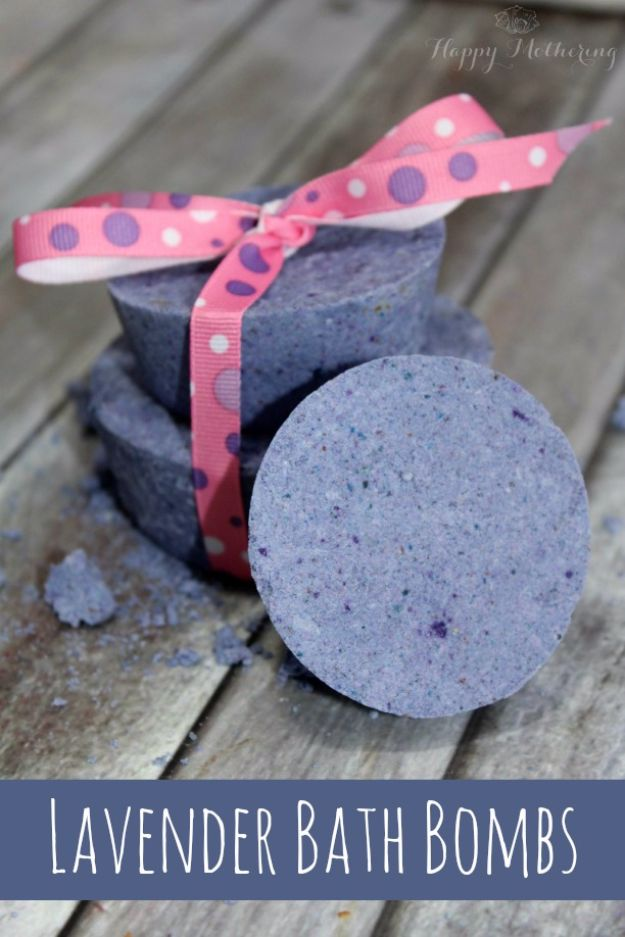 DIY Spa Day Ideas - DIY Lavender Bath Bombs - Easy Sugar Scrubs, Lotions and Bath Ideas for The Best Pampering You Can Do At Home - Lavender Projects, Relaxing Baths and Bath Bombs, Tub Soaks and Facials - Step by Step Tutorials for Luxury Bath Products http://diyjoy.com/diy-spa-day-ideas